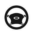 Steering wheel icon simple style vector image vector image