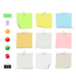 sticky notes collection sticky paper vector image