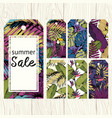 summer labels for sale set for printing vector image