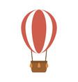 summer travel and vacation hot air balloon vector image