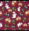 texture cute characters halloween holiday vector image vector image