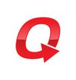 turnaround initial q monogram lettermark symbol vector image vector image