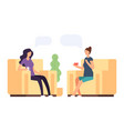 two women are talking psychoteraphy vector image vector image
