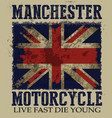 vintage on the theme of the british motorcycle in vector image vector image