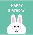 white bunny rabbit face pet collection hare vector image vector image