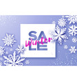 winter sale banner merry christmas and happy new vector image vector image