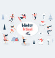 winter sport scene christmas event and festival vector image vector image