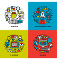 workshop interactive education e-learning tutorial vector image vector image