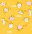 children emotions seamless vector image