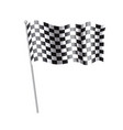 rippled black and white crossed checkered flag vector image