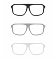 Glasses set isolated on white vector image