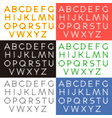 transparent letters alphabet vector image