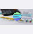 3d infographic template with embossed circle vector image vector image