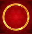 abstract glow golden circle frame luxury template vector image