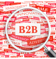 B2B vector image vector image