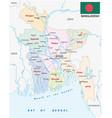 bangladesch administrative and political map vector image vector image
