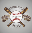 Baseball champ fill name vector image