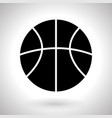 basketball ball silhouette black icon vector image