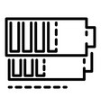 battery icon outline style vector image vector image