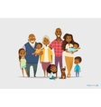 Big happy family portrait Three generations vector image vector image