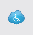 Blue cloud cripple icon vector image vector image