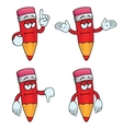 Bored cartoon pencils set vector image vector image