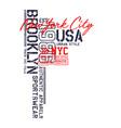 brooklyn usa design typography varsity vector image vector image