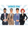 Business team and teamwork design concept vector image vector image