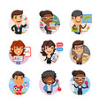 cartoon people avatars with different professions vector image