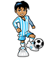 cartoon soccer football player vector image vector image
