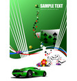 casino elements with sport car image vector image vector image
