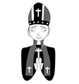 Catholic priest bishop pope vector image