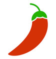 chili pepper flat icon vector image vector image