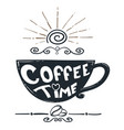 coffee hand drawn design vector image