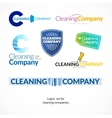 collection logo set for cleaning company vector image vector image