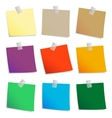 colored set sticky notes vector image