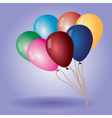 colorful balloons with helium eps10 vector image vector image