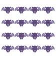 cute collection halloween vampire bat icon vector image