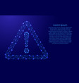 danger sign exclamation point in triangle from vector image vector image
