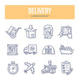 delivery doodle icons vector image