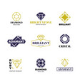 diamond logost abstract luxury labels with vector image