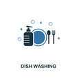 dish washing icon creative two colors design from vector image vector image