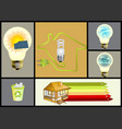 ecology and alternative energy set vector image vector image