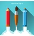 Flat design concept of new creative business vector image vector image