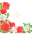 floral border festive background with blooming vector image