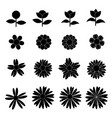 flower icon collection on white background vector image vector image