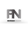 fn f n lines letter design with creative elegant vector image vector image