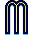 font name disco trendy alphabet letter vector image