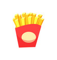 french fries package fried potatoes isolated icon vector image