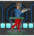 Full virtual reality vector image vector image